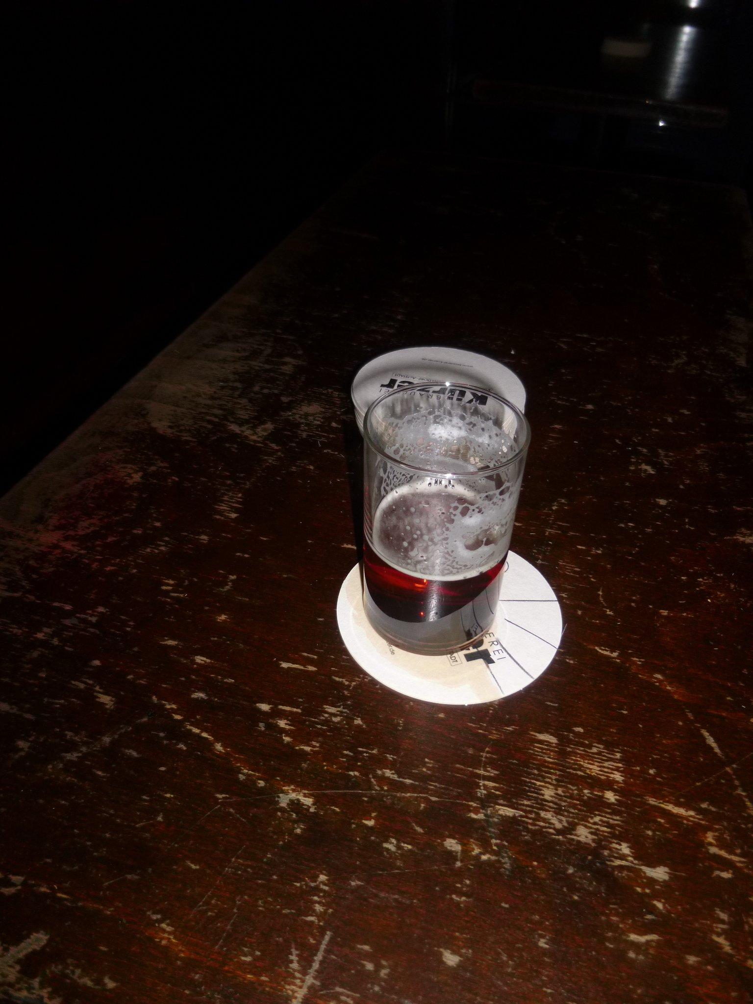 einsames Bier