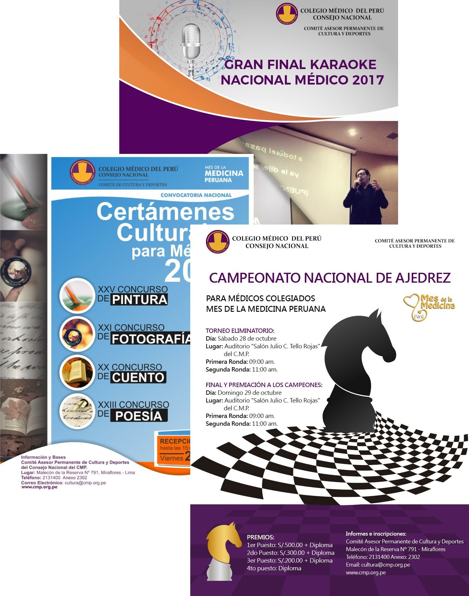 GRAN FINAL KARAOKE NACIONAL / CERTAMENES CULTURALES / CAMPEONATO NACIONAL DE AJEDREZ