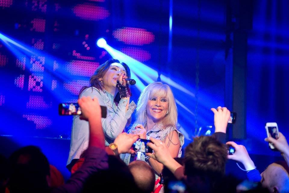 Sabrina Salerno & Samantha Fox - Mad Club Lausanne 7 mars 2014  Full