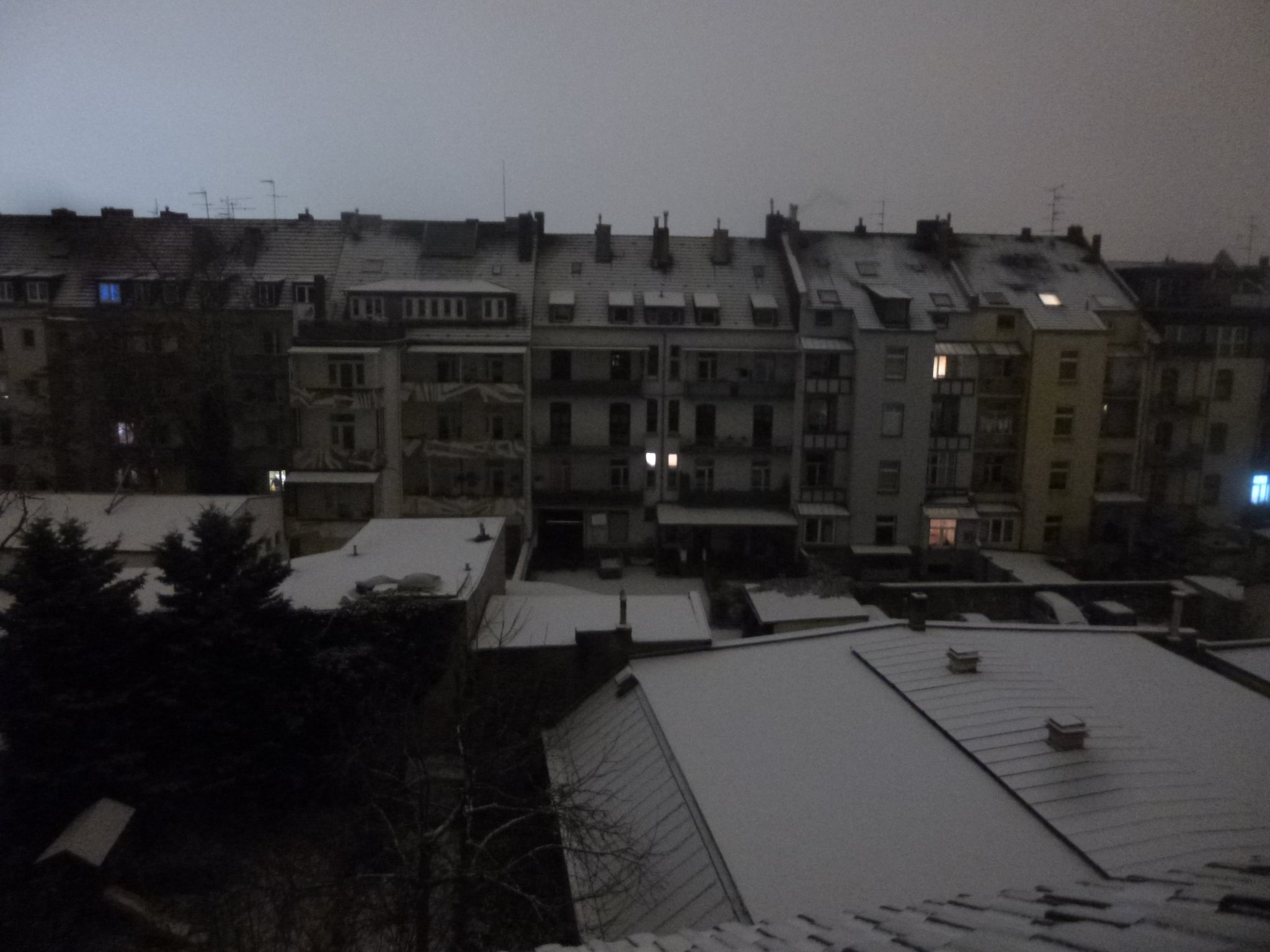 Schnee - 1 Uhr nachts