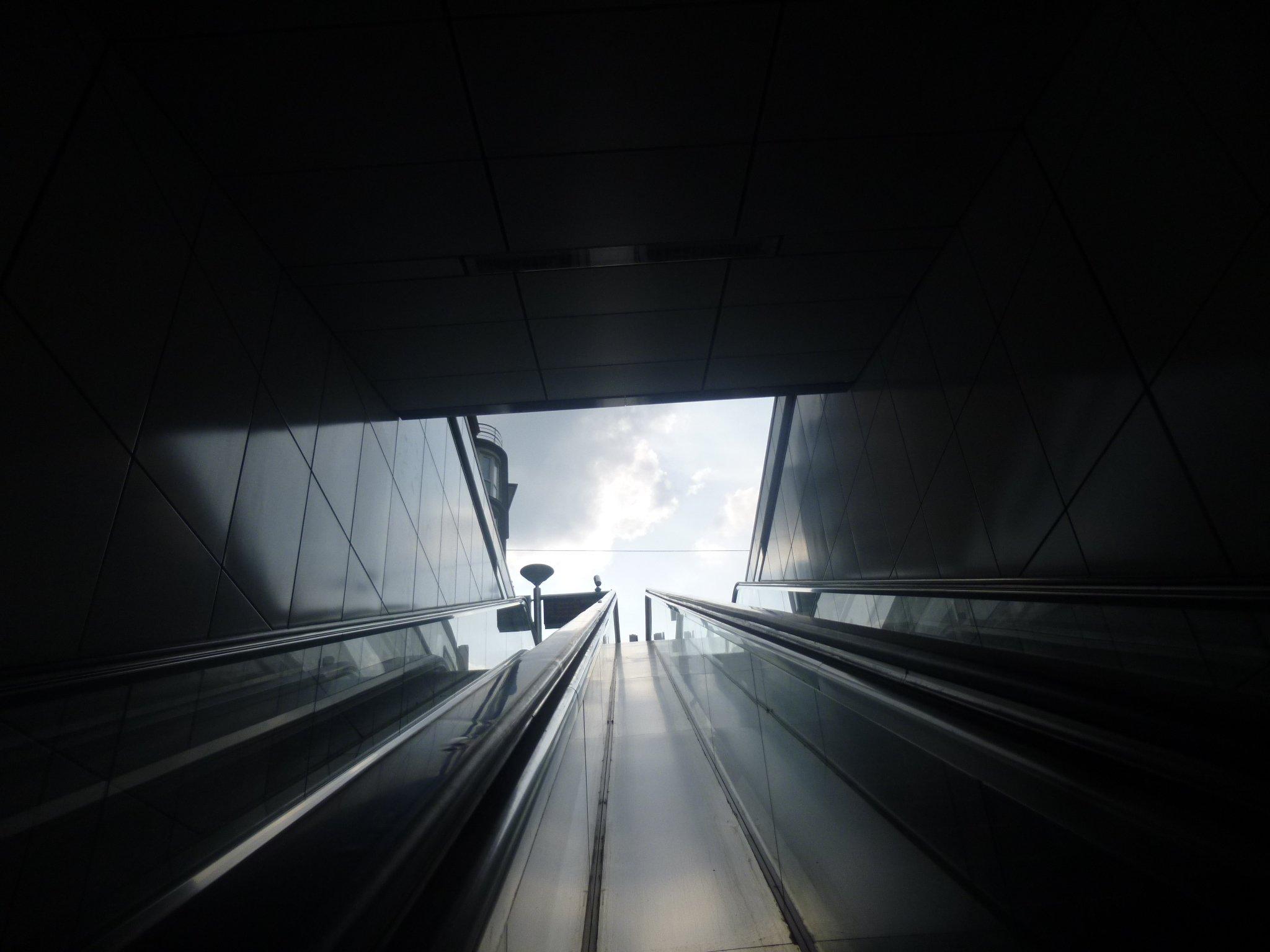 Rolltreppenfahrt
