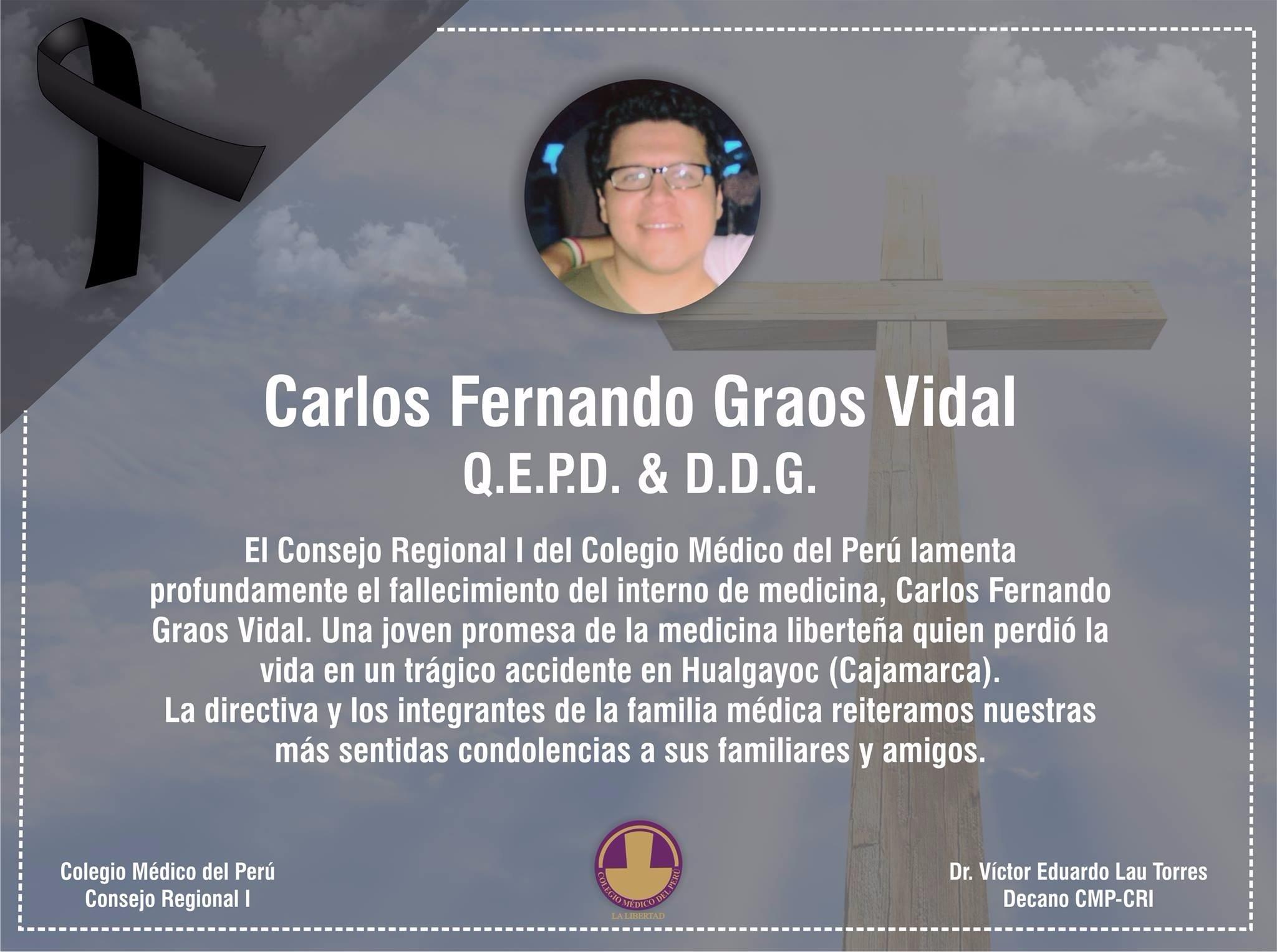 DEFUNCIÓN: DR. FERNANDO GRAOS VIDAL