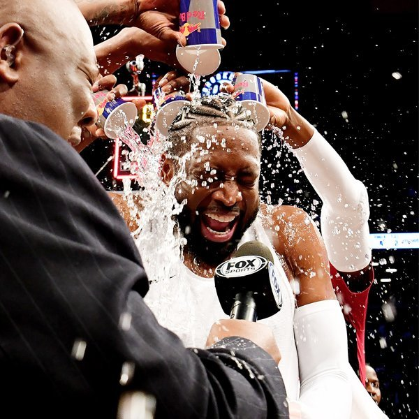 Dwyane Wade Finishes Final Basketball Game of His Career Drenched in Water: 'What a Ending'