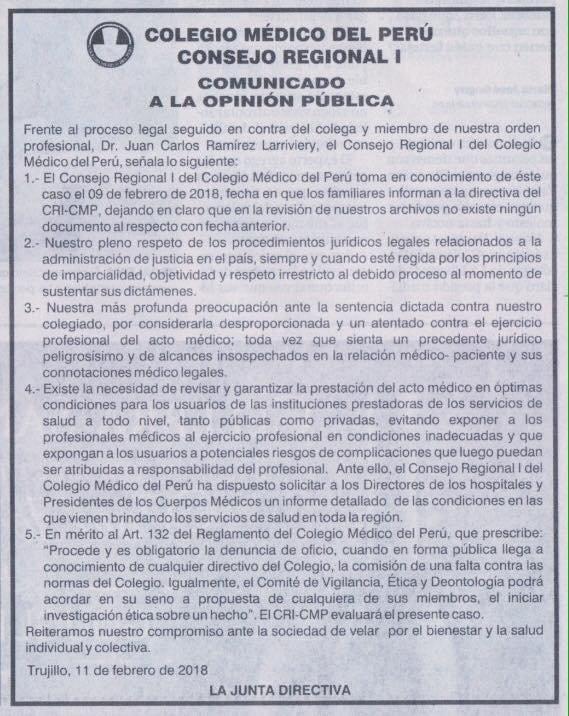 COMUNICADO CRI-CMP