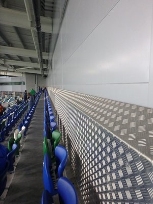 October 2016 - Back row of The Kop.